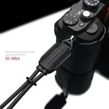 GARIZ Leather Wrist Strap Black XS-WBL6 for Sony A7 A7R