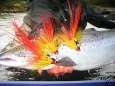 3 V Fly 3/4 Inch Red Flamethrower Potbelly Pig Salmon Tube Flies & Trebles