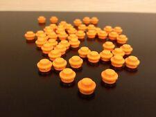 LEGO NEW Bulk Lot - 100 Orange 1x1 Round Dot Flat Plate