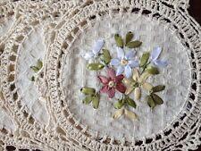 """6 PCS 8"""" Round  Crochet Lace Doily COLOR BEIGE  100 % COTTON"""