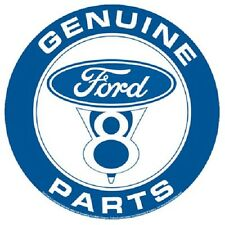 "Ford Genuine Parts V8  Metal Sign - Round 12"" Die-Cut not porcelain hot rod fd11"
