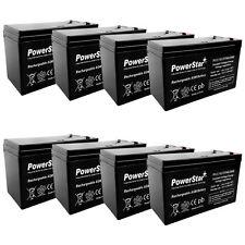 8x Battery Kit for APC UPS RBC12 RBC26 RBC27 12V 7Ah Sealed Lead-Acid Battery(s)