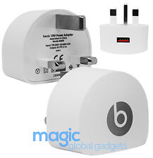 WHITE GENUINE OFFICIAL 10W BEATS BY DRE 5.0V 2.1A USB WALL CHARGER B0509