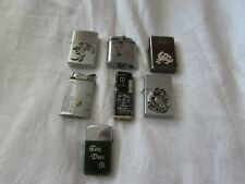 Lot 7 vintage LIGHTERS Ronson Whirlwind Park Lilly Jack Daniels cards dragons