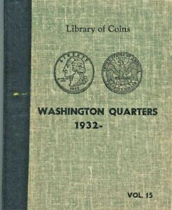Used Library of Coins Album Wash. Quarters 1932-1973 Vol.15