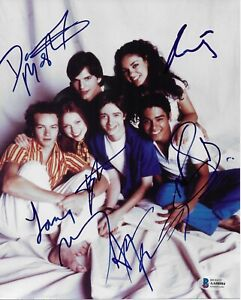 That 70s Show Cast Signed 8x10 Photo with Beckett BAS Authentic Autograph All 6
