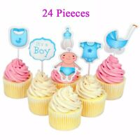 20Pcs Baby Shower Cake Toppers Bottle Birthday Boy Girl Party Decor Supplies