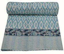 Hand Block Print Design Twin Cotton Indian Handmade Kantha Quilt Throw Blanket
