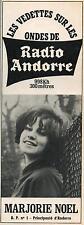 ▬► PUBLICITE ADVERTISING AD RADIO ANDORRE Marjorie Noel 19 Février 1967