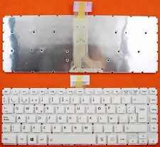 Teclado Español Toshiba L40-B,L40D-B blanco sin marco   Ref : 0150027-W