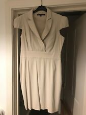 French Connection Cream Dress Smart Sexy Size 16 Great Condition