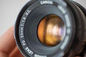 🔥 Canon fd 50mm F/1.8 S.C. [fungus] 🔥