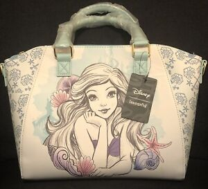 Loungefly Disney The Little Mermaid Blue Watercolor Satchel Bag NWT