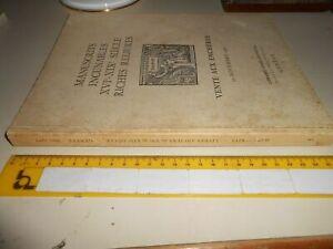 LIBRO: MANUSCRITS INCUNABLES XVI-XIX SIECLE RICHES RELIURES -VENTE AUX ENCHERES