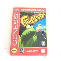 Frogger Sega Genesis Complete CIB Box Manual Game Cartridge Tested Working