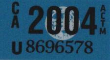US États-Unis California plaque license plate number plate année Autocollant 2004