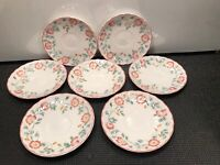 7 CHURCHILL STAFFORDSHIRE ENGLAND  ''BRIAR ROSE'' SAUCERS   5 1/2''