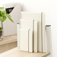 Simple Style Spiral book coil Notebook Blank Grid Paper Journal Diary Sketchbook