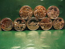 Dinosaur Series 8 Copper Round Set 8 1 oz .999 Copper Rounds