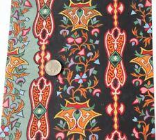 """Antique c1837 French Hand Painted Gouache Textile Design Artwork~ L-7"""" X W-6"""""""