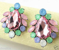 New Fashion Women Elegant Crystal Rhinestone Ear Stud silver dangle Earrings 457