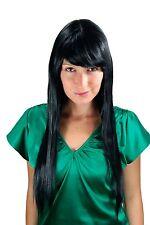 Très Long Femme Perruque Noir Lisse Longue Frange Postiche 70 Cm LA033-1