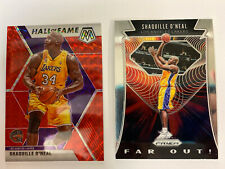 New listing 2019-20 Mosiac SHAQUILLE ONEAL Red HOF PRIZM/Far Out Insert (2) Card Lot Lakers