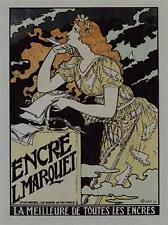 METAL WALL PLAQUE / SIGN  VINTAGE STYLE ENCRE L. MARQUET ART DECO