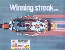 Shell Motor Oil Motorcycle 1979 Magazine Advert #2919