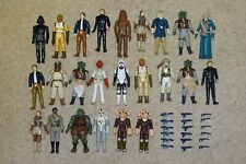 24 Vintage Star Wars Figures - played with condition plus Replica Weapons