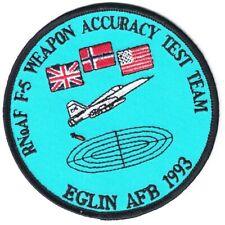 RNoAF F-5 Weapon Accuracy Test Team Eglin AFB 1993 patch NEW