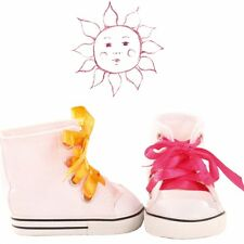 Gotz Sneakers Yellow and Pink Laces for dolls 42 to 46 and 45  to 50 cm