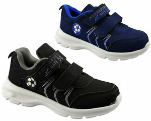 Boys Kids Double Strap Lightweight Casual School Running Walking Trainers Shoes
