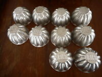 Vintage Jello Molds Metal Tin Collect 1970's ? 60's ? Kitchen Collectible