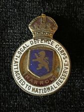 More details for ww1 local defence corps attached to national reserve harrow blue enamel badge