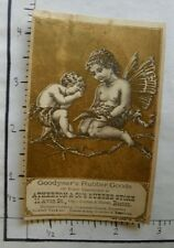 VICT TRADE CARD; GOODYEAR'S RUBBER GOODS; BOSTON; CUPID MOTHER CHILD BRANCH 2050