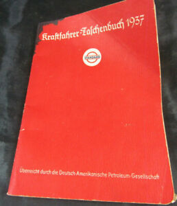 ESSO Standard Kraftfahrer-Taschenbuch 1937 Tankstelle Essolub Oldtimer Auto