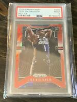2019-20 Panini Prizm Red Ice #248 Zion Williamson Pelicans RC Rookie PSA 9 MINT