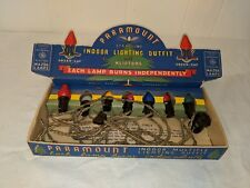 Rare Antique Paramount Mazda Lamps Christmas Tree Lights Set