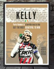 Sean Kelly paris roubaix cycling poster. Specially created
