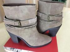 New UNIONBAY Taupe Tan KADEE rhinestone studded cowboy calf ankle boots 10 COMFY