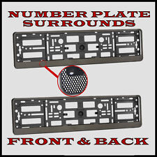 2x Number Plate Surrounds Holder Carbon for Vauxhall Vectra C
