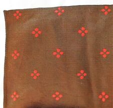 """Vintage brown and red scarf mid 20th century 27""""square circa 1950s 1960s ey"""