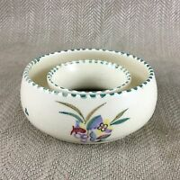 Poole Pottery Ring Bowl Dish Hand Painted Signed Vintage Unusual Shape