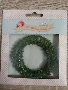 TILDA 480495 Tilda - Green 1m Christmas Garland
