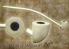 MacQueen White Wizard Lord of the Churchwarden Tobacco Pipe Smoke Rings Ash Wood