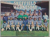 SHEFFIELD WEDNESDAY 1980-1981 RARE ORIG HAND SIGNED TEAM GROUP 4 X SIGNATURES