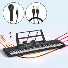 61 Key Music Electronic Keyboard Electric Piano Organ w/ Microphone Usb Charging