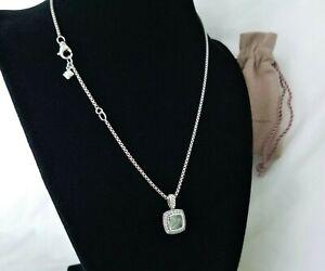 DAVID YURMAN Albion Pendant necklace with Prasiolite and Diamonds! MINT! $750