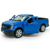 1:36 Ford F-150 Pickup Truck Model Car Metal Diecast Toy Vehicle Matte Blue Gift